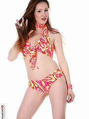 Pool party big tits striptease